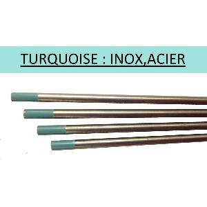 Electrodes tungstènes TURQUOISE - diam 1 mm